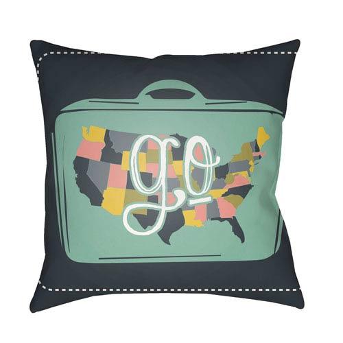 Surya Jetset Multicolor 18 x 18-Inch Pillow