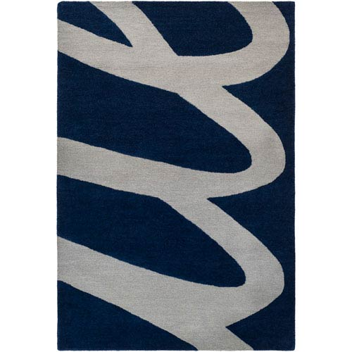 Kennedy Black and Gray Rectangular: 5 Ft. x 7 Ft. 6-Inch Area Rug