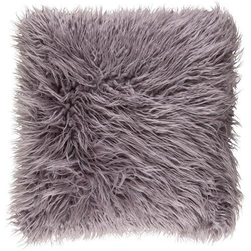 Kharaa Light Gray 22 x 22-Inch Pillow