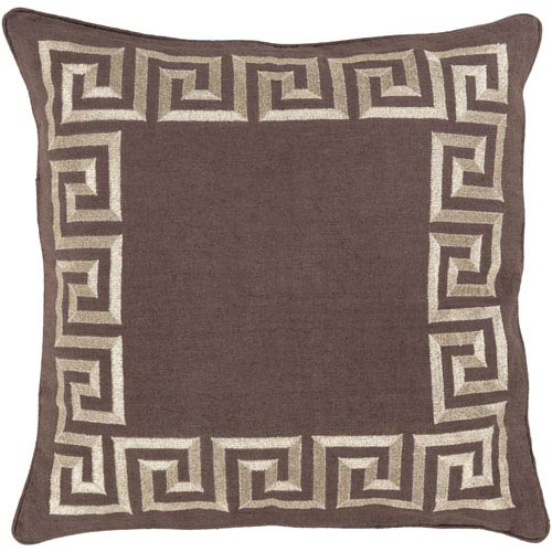 Key Brown 22-Inch Pillow Cover
