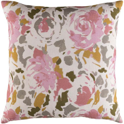Kalena Brown and Pink 22-Inch Pillow Cover