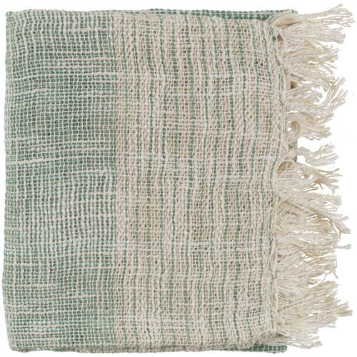 Kymani Emerald and Cream Throw