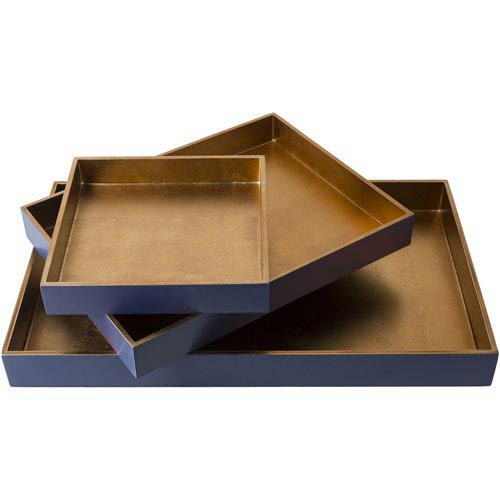 Surya Kalista Tan and Navy Tray