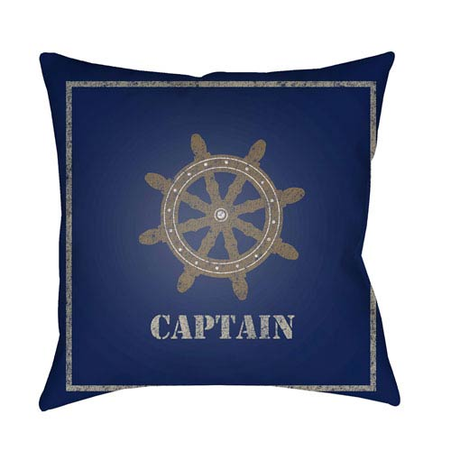 Surya Captain Multicolor 20 x 20-Inch Throw Pillow