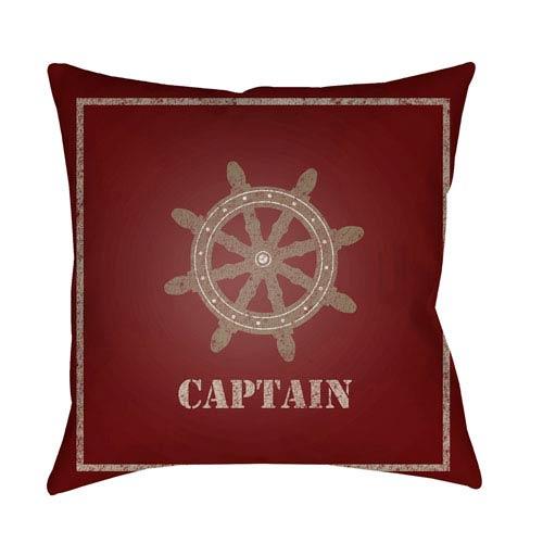 Surya Captain Multicolor 18 x 18-Inch Throw Pillow