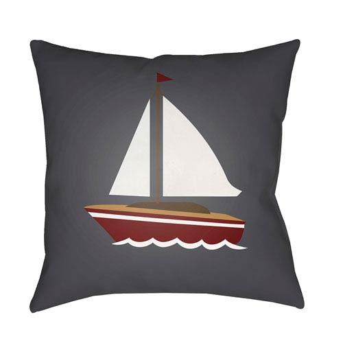Surya Sail Multicolor 18 x 18-Inch Throw Pillow