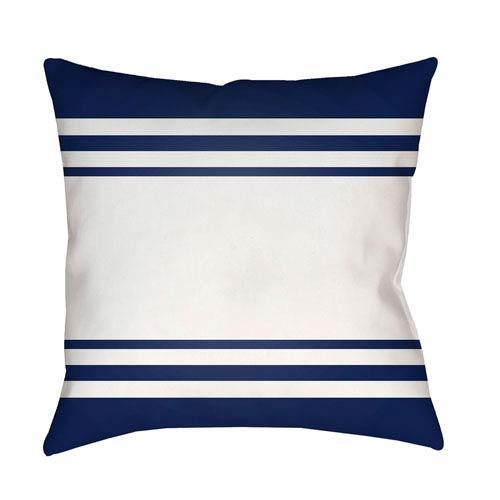 Lake Stripes Blue and White 18 x 18-Inch Throw Pillow