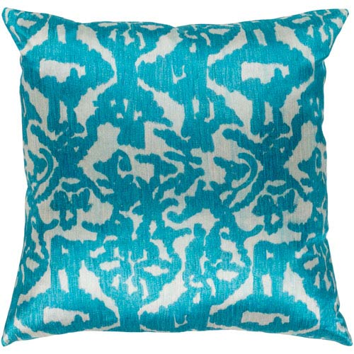 Surya Lambent Sea Foam and Teal 22 x 22 In. Throw Pillow