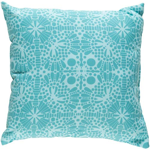 Laser Cut Teal and Mint 20 x 20-Inch Pillow