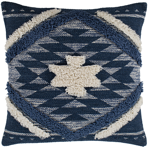 Lachlan Navy and Cream 22 In. x 22 In. Pillow Cover
