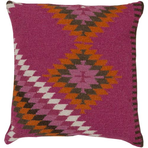 Kilim Pink and Green 20-Inch Pillow Cover