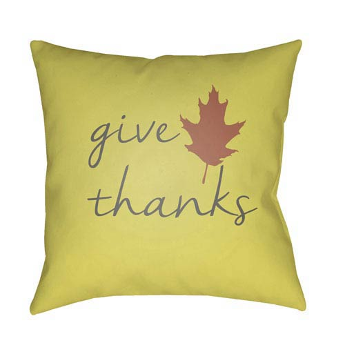Yellow Giving Tree 18-Inch Throw Pillow with Poly Fill