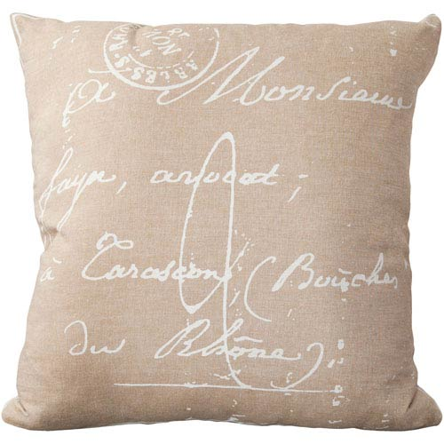 Montpellier Neutral and Brown 18-Inch Pillow Cover