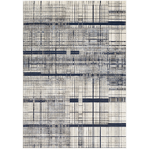 Lagom Navy and Ivory Rectangular: 7 Ft. 10 In. x 10 Ft. 3 In. Rug