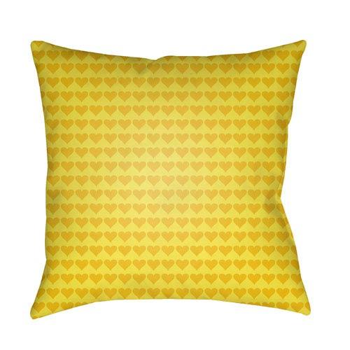 Littles Bright Yellow 20 x 20-Inch Pillow