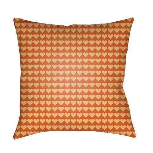 Surya Littles Bright Yellow and Burnt Orange 20 x 20-Inch Pillow