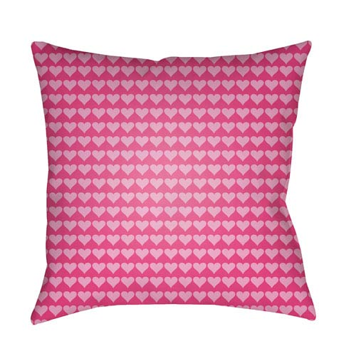 Surya Littles Bright Pink 20 x 20-Inch Pillow