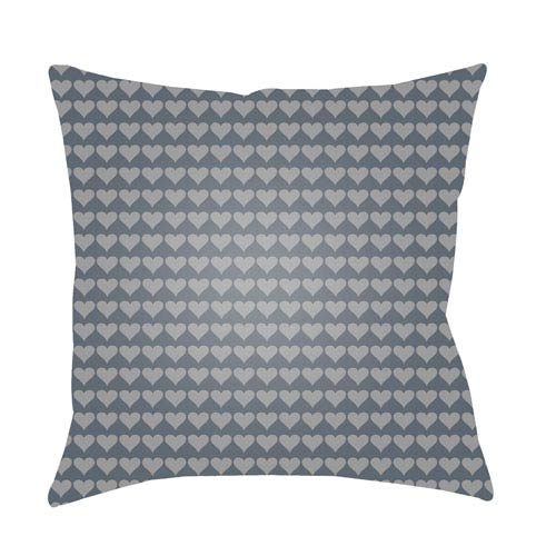 Littles Charcoal and Medium Gray 18 x 18-Inch Pillow