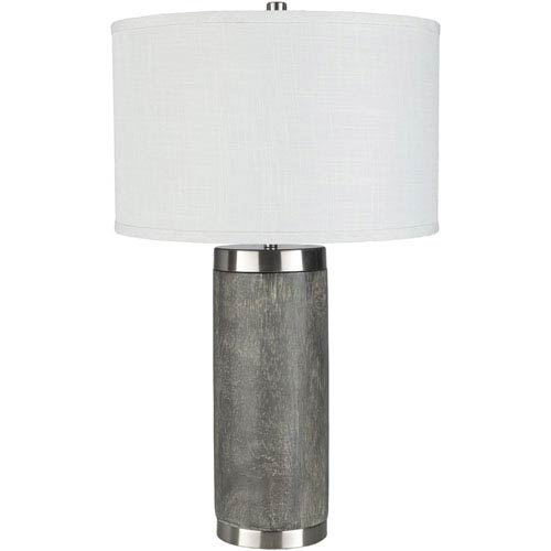 Surya Liam Gray Portable Lamp