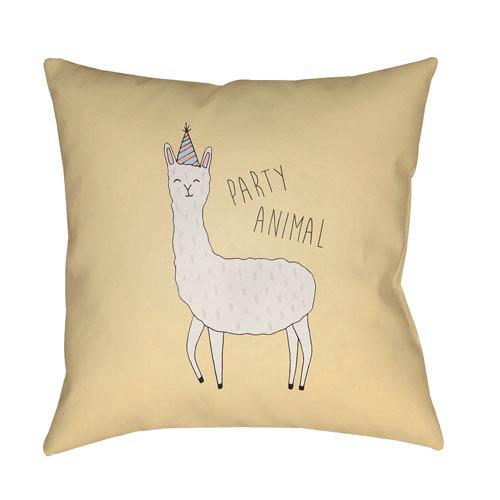 Surya Llama Multicolor 18 x 18-Inch Throw Pillow