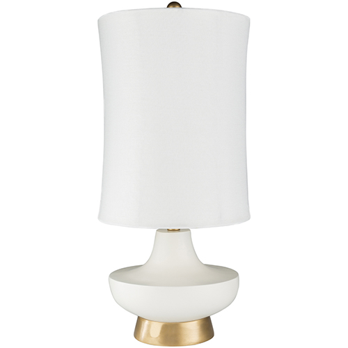Brookhaven White One-Light Table Lamp