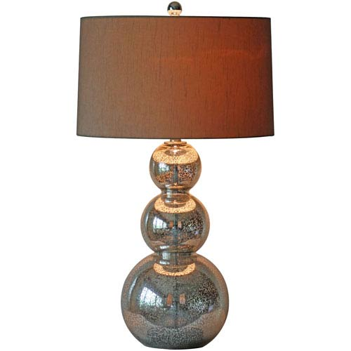 Surely Sparkle Silver One Light Table Lamp
