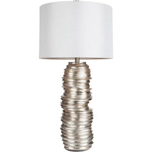 Exquisite Silver One Light 16.5-Inch Table Lamp