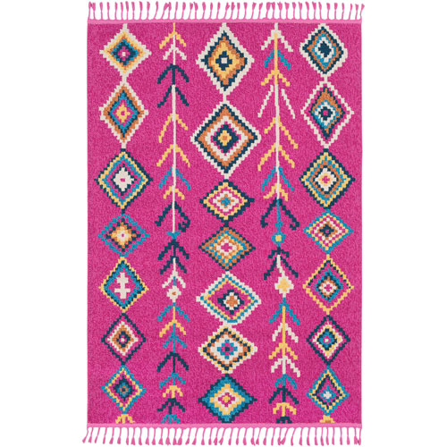 Surya Love Pink Rectangle: 2 Ft. x 3 Ft. Rug