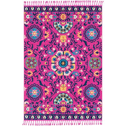 Surya Love Pink Rectangle: 2 Ft. x 3 Ft. Rug