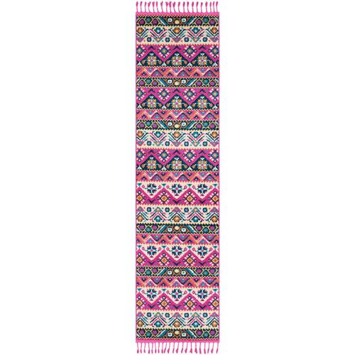 Surya Love Pink Runner: 2 Ft. 7 In. x 10 Ft. Rug