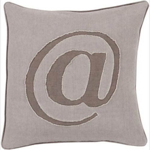 Surya Where its At Mauve 22-Inch Pillow with Poly Fill