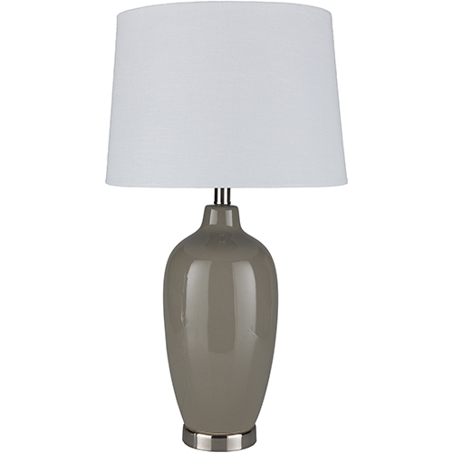 Lyle Taupe and White One-Light Table Lamp