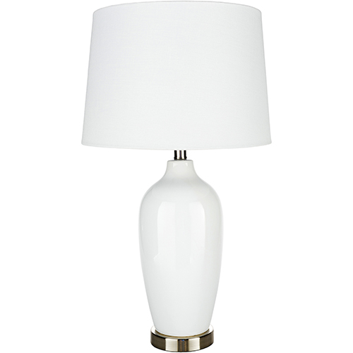 Lyle White One-Light Table Lamp
