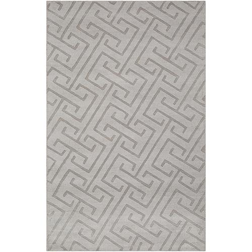 Mystique Light Grey Rectangular: 3 Ft. 3 In. x 5 Ft. 3 In. Rug
