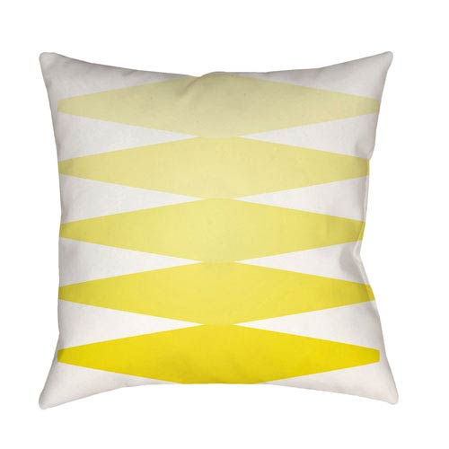 Modern Bright Yellow and White 20 x 20-Inch Pillow