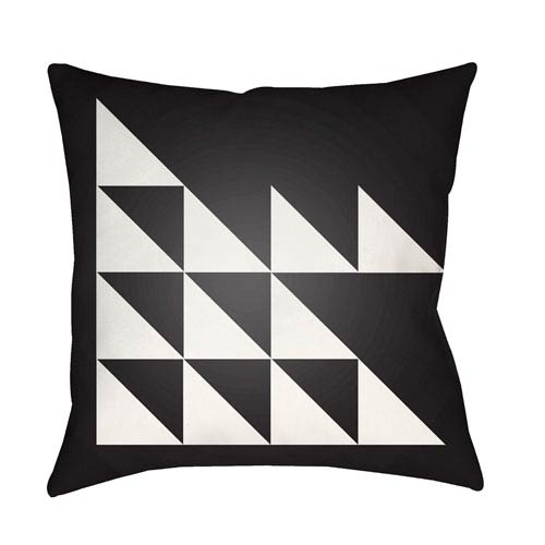 Modern White and Black 22 x 22-Inch Pillow
