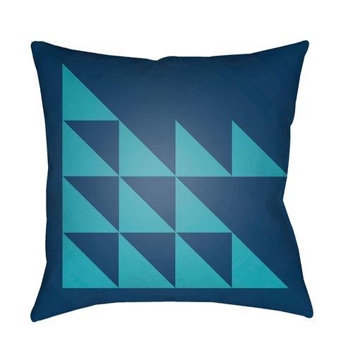 Modern Navy and Aqua 20 x 20-Inch Pillow