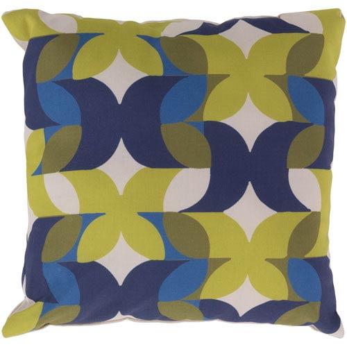 Modern Multicolor 18 x 18-Inch Pillow