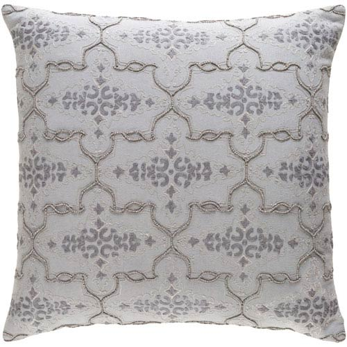 Mercury Gray 18-Inch Pillow Cover