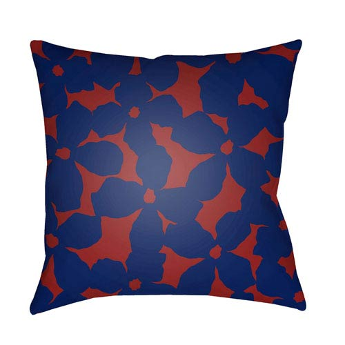 Surya Moody Floral Rust and Violet 18 x 18-Inch Pillow