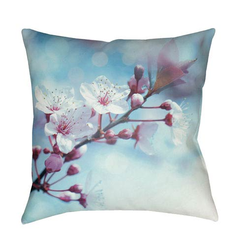 Moody Floral Multicolor 18 x 18-Inch Pillow