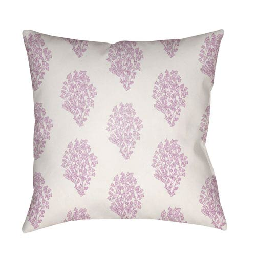 Moody Floral Lilac and Bright Pink 20 x 20-Inch Pillow