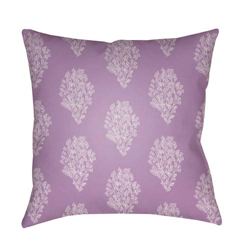 Surya Moody Floral Bright Purple and Lavender 20 x 20-Inch Pillow