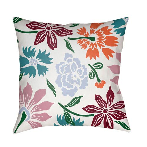 Surya Moody Floral Multicolor 20 x 20-Inch Pillow