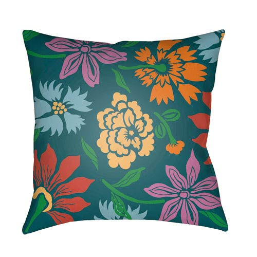 Surya Moody Floral Multicolor 22 x 22-Inch Pillow