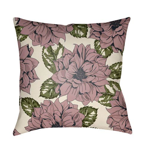Surya Moody Floral Multicolor 22 x 22-Inch Pillow