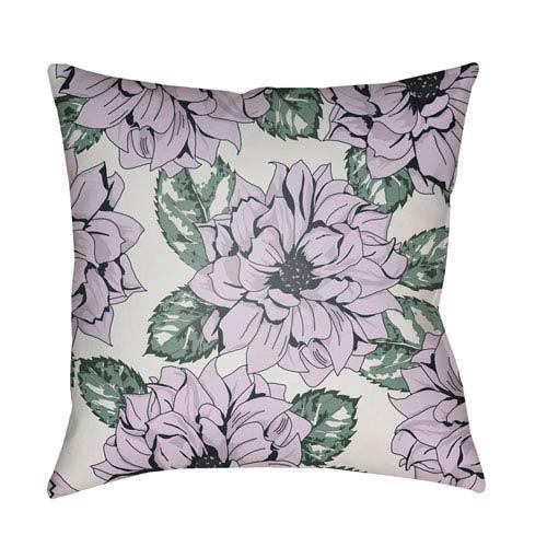 Surya Moody Floral Multicolor 18 x 18-Inch Pillow