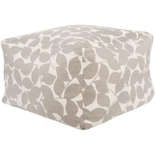 Magnolia Gray and Neutral Cube Pouf