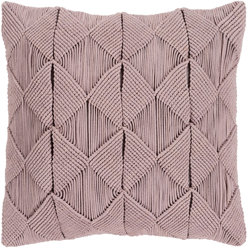 Migramah Taupe 22 x 22 In. Throw Pillow with Feather Down Insert