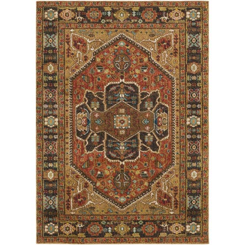 Surya Masala market Multicolor Rectangular: 2 Ft. x 3 Ft Rug